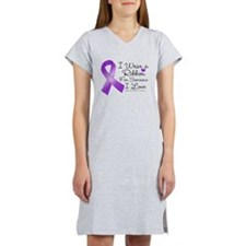 Ribbon Alzheimers Disease Women's Nightshirt
