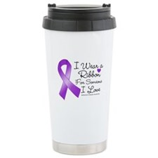 Ribbon Alzheimers Disease Travel Mug