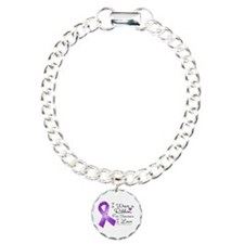 Ribbon Alzheimers Disease Charm Bracelet, One Char