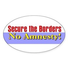 Secure the Borders Oval Decal