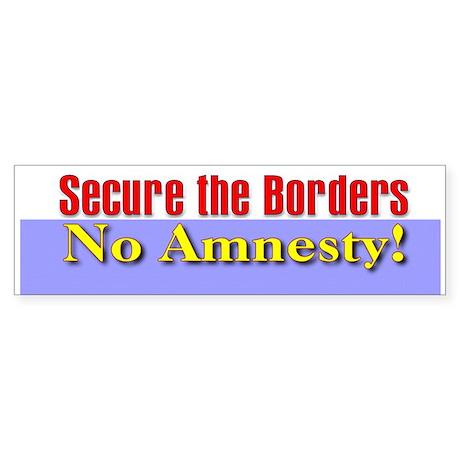 No Amnesty Bumper Sticker