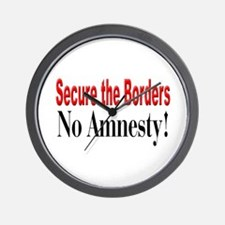 Time to Secure the Borders Wall Clock