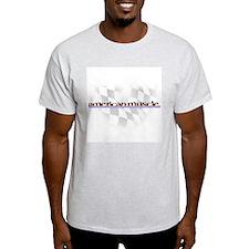 American Muscle Logo Ash Grey T-Shirt