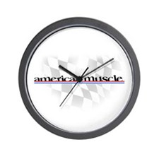 American Muscle Logo Wall Clock