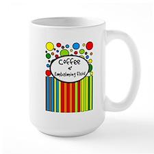 Coffee and Embalming Fluid stripes.PNG Mug
