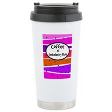 Coffee and embalming fluid pink.PNG Travel Mug