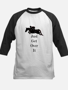 Just Get Over It Horse Jumper Kids Baseball Jersey