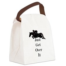 Just Get Over It Horse Jumper Canvas Lunch Bag