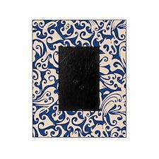 Linen & Monaco Blue Swirls Picture Frame