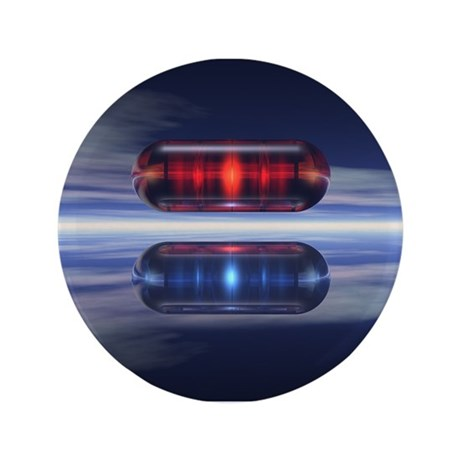"""Capsules In Space 3.5"""" Button (100 pack)"""