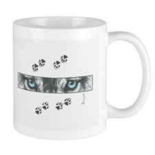 """Wolf Eyes & Paw Prints"" Mug"