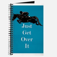 Just Get Over It Horse Jumper Journal