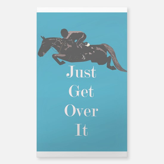Just Get Over It Horse Jumper Sticker (Rectangle)