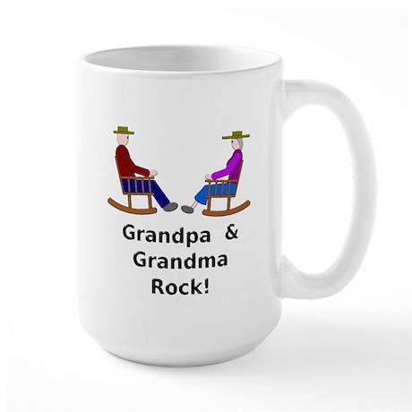 Grandpa Grandma Rock Large Mug