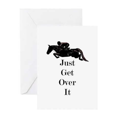 Just Get Over It Horse Jumper Greeting Card