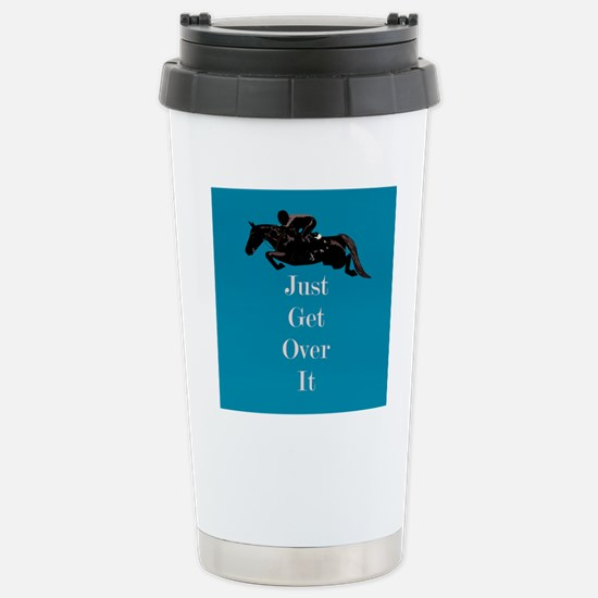 Just Get Over It Horse Jumper Stainless Steel Trav