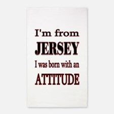 Jersey Attitude.png 3'x5' Area Rug