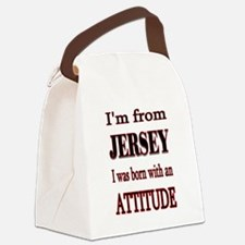 Jersey Attitude.png Canvas Lunch Bag