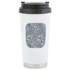 Linen & Monaco Blue Damask #3 Travel Mug