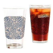 Linen & Monaco Blue Damask #3 Drinking Glass