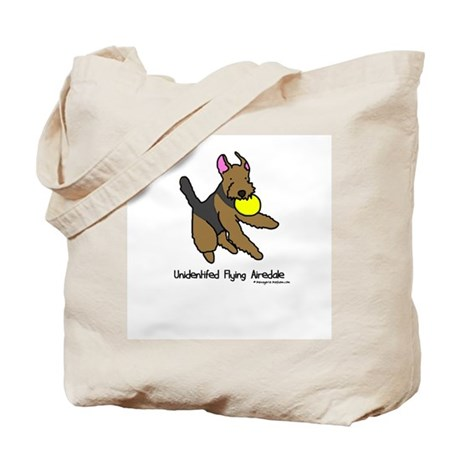 Unidentified Flying Airedale Tote Bag