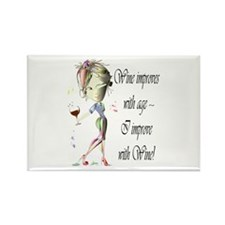 Wine improves with age ~ I improve with Wine! Rect
