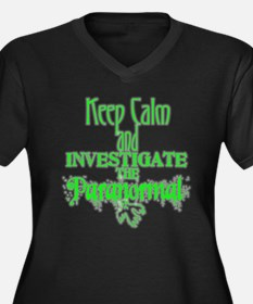 Keep Calm: Paranormal Ladies PlusSize V-neck Shirt