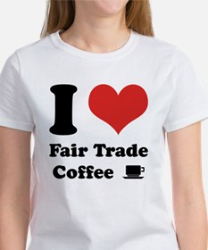 I Heart Fair Trade Coffee Tee