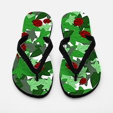Ladybugs and Ivy white Flip Flops