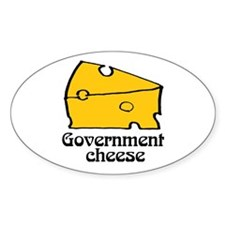 Government Cheese Oval Decal