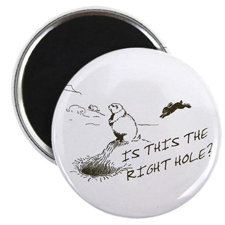 The Right Hole? Groundhogs Day Magnet