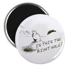 "The Right Hole? Groundhogs Day 2.25"" Magnet (10 pa"