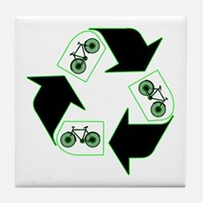 Recycle Your Cycle Tile Coaster