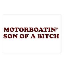 Motorboatin SOB Postcards (Package of 8)
