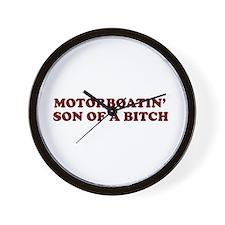 Motorboatin SOB Wall Clock