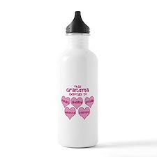 Personalized Grand kids hearts Water Bottle