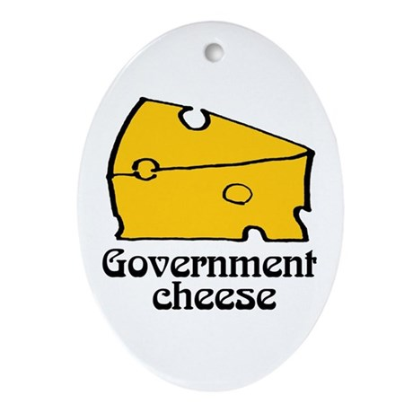 Government Cheese Oval Ornament