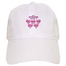Personalized Grand kids hearts Baseball Cap