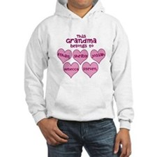 Personalized Grand kids hearts Hoodie