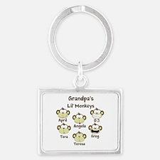 Custom kids monkeys Landscape Keychain