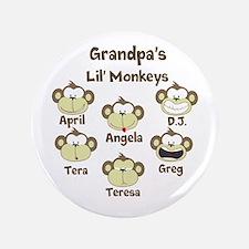 """Custom kids monkeys 3.5"""" Button"""