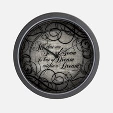 Dream Within A Dream Wall Clock