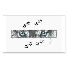 """Wolf Eyes & Paw Prints"" Bumper Stickers"