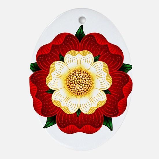 Tudor Rose Ornament (Oval)