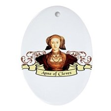 Anne Of Cleves Ornament (Oval)