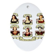 Fates Of Henry VIII Wives Ornament (Oval)