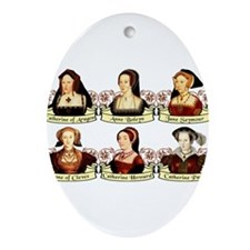 Six Wives Of Henry VIII Ornament (Oval)