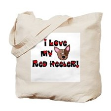 Love Red Heeler Tote Bag
