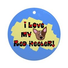 Love Red Heeler Ornament (Round)