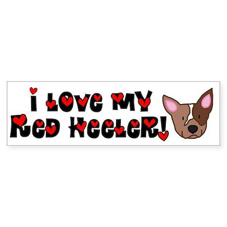 Love Red Heeler Bumper Sticker